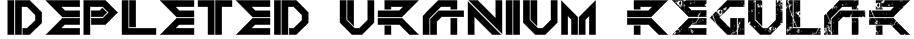 DEPLETED URANIUM Regular Font