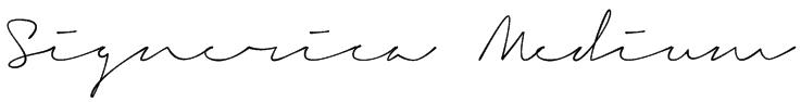 Signerica Medium Font