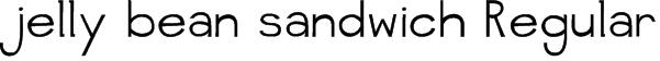 jelly bean sandwich Regular Font