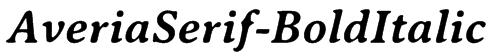 AveriaSerif-BoldItalic Font