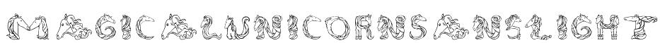 MagicalUnicornSansLight Font