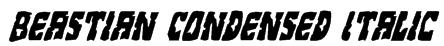Beastian Condensed Italic Font