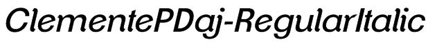 ClementePDaj-RegularItalic Font