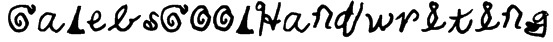 CalebsCoolHandwriting Font