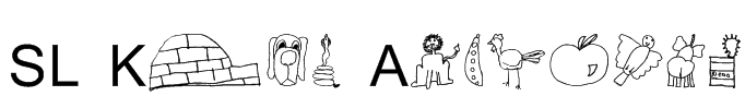 SL Kids Alphabet Font