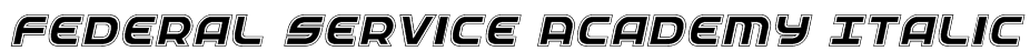 Federal Service Academy Italic Font