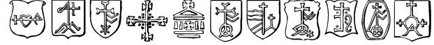 Christian Crosses IV Font