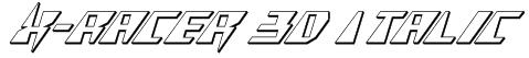 X-Racer 3D Italic Font