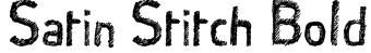 Satin Stitch Bold Font