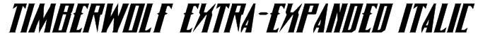 Timberwolf Extra-expanded Italic Font