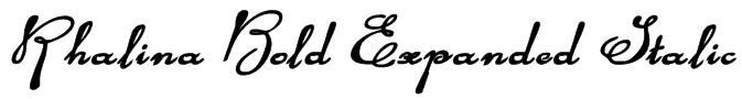 Rhalina Bold Expanded Italic Font
