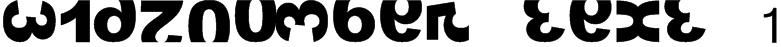 widznumber text 1 Font
