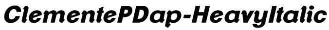 ClementePDap-HeavyItalic Font