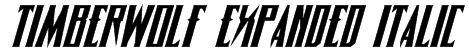 Timberwolf Expanded Italic Font