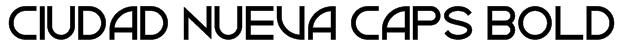 Ciudad Nueva CAPS Bold Font