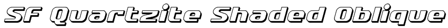 SF Quartzite Shaded Oblique Font