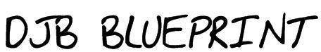 DJB BLUEPRINT Font