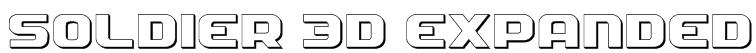 Soldier 3D Expanded Font