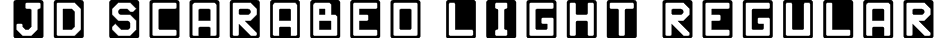 JD Scarabeo Light Regular Font
