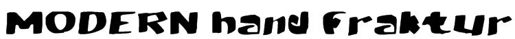 MODERN hand fraktur Font