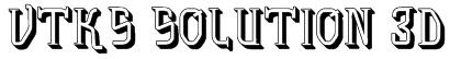vtks solution 3d Font