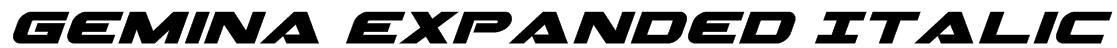 Gemina Expanded Italic Font