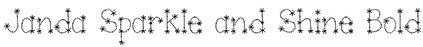 Janda Sparkle and Shine Bold Font