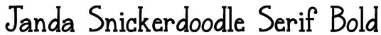 Janda Snickerdoodle Serif Bold Font