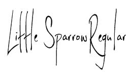 Little SparrowRegular Font