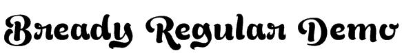 Bready Regular Demo Font
