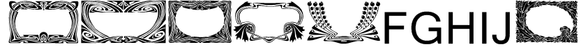 Art Noveau Headers Font