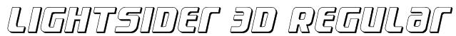 Lightsider 3D Regular Font