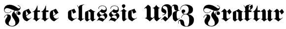 Fette classic UNZ Fraktur Font