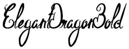 ElegantDragonBold Font