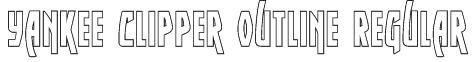 Yankee Clipper Outline Regular Font