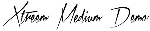 Xtreem Medium Demo Font