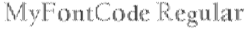 MyFontCode Regular Font