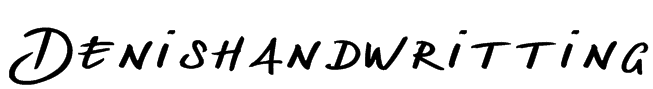 Denishandwritting Font