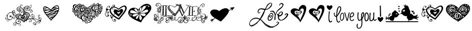 KG Heart Doodles Font