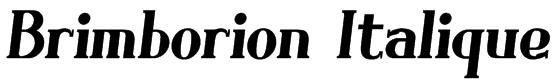 Brimborion Italique Font