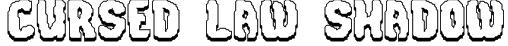 Cursed Law Shadow Font