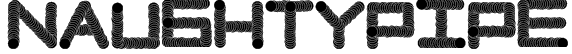 NaughtyPipe Font