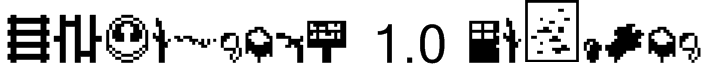 Minecraft 1.0 Regular Font