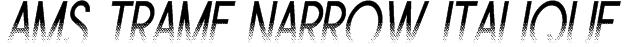 Ams Trame Narrow Italique Font