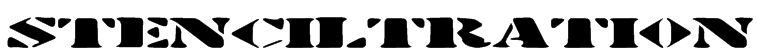 Stenciltration Font