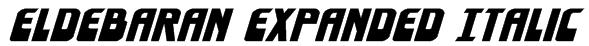 Eldebaran Expanded Italic Font