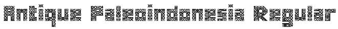 Antique Paleoindonesia Regular Font