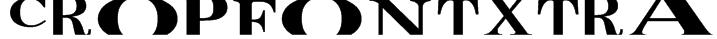 CropFontXtra Font