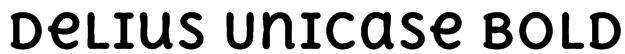 Delius Unicase Bold Font