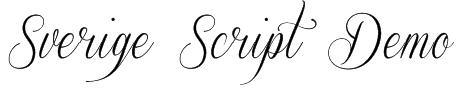 Sverige Script Demo Font